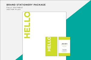 Bold Green Stationery Suite