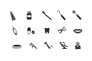 15 Dental and Dentistry Icons