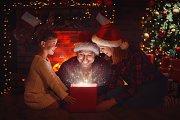 Magic Gift Christmas Backdrop