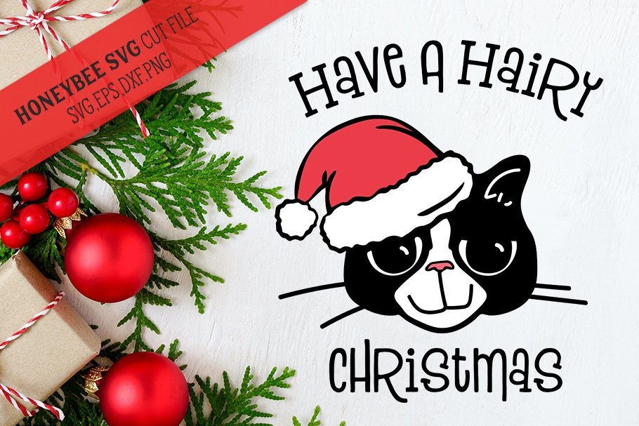 Have A Hairy Christmas Svg Cut File Pre Designed Illustrator Graphics Creative Market