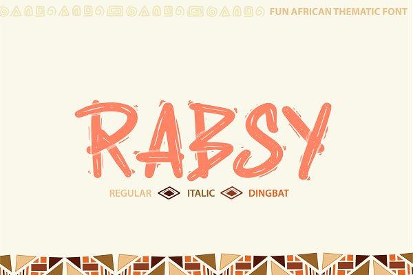 Best Rabsy: African pattern font Vector