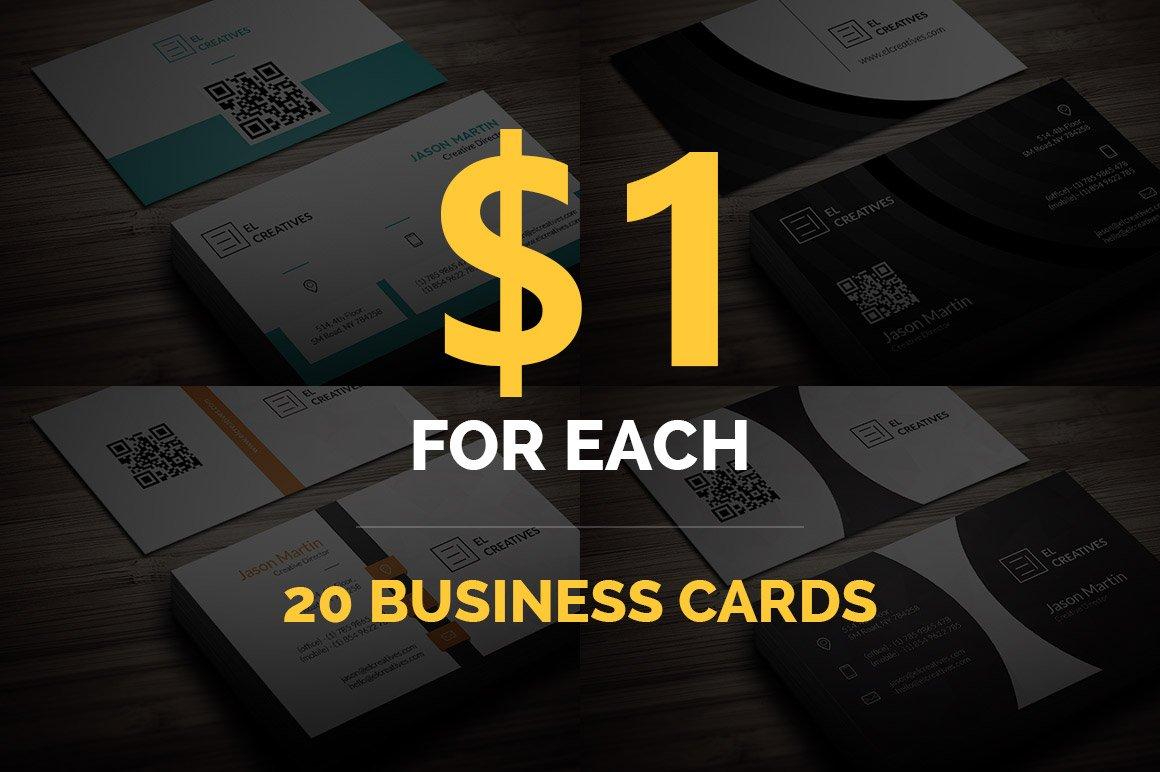 Bundle - 20 Business Cards ~ Business Card Templates ~ Creative Market