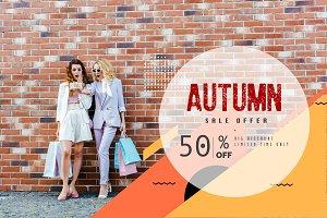 shocked young women with shopping ba