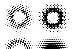Halftone Radial Elements