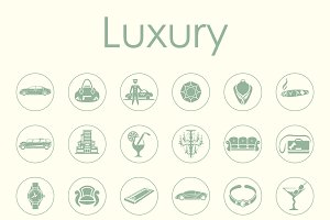 36 LUXURY simple icons