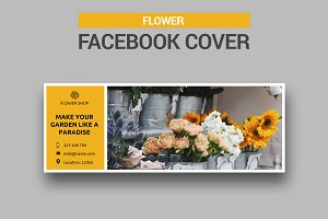 Flower Shop Facebook Cover - SK