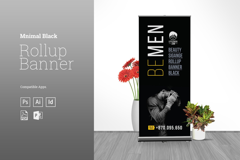 Minimal Black Rollup Banner