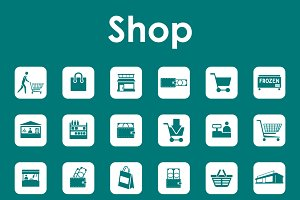 Set of shop simple icons