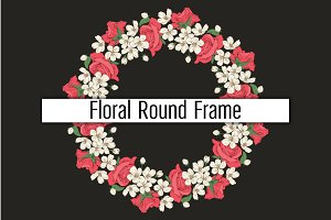 Round frame with flowers. SALE