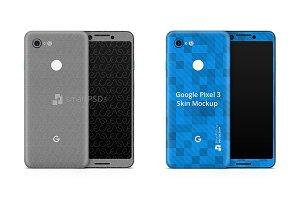 Google Pixel 3 Vinyl Skin Mockup