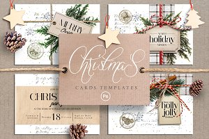 Vintage Christmas Invitation Cards