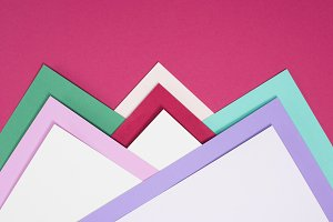 colored different triangles isolated