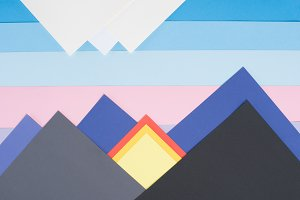 colored decorative mountains made of