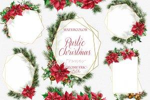 Rustic Christmas Geometric Frames