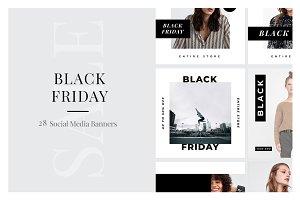 28 Black Friday Instagram Posts V4