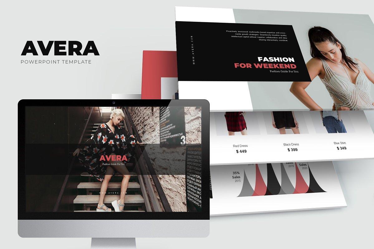 Avera : Minimal Fashion Powerpoint ~ PowerPoint Templates