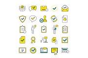 Approve color icons set