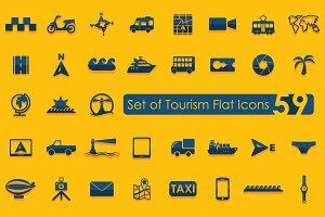 59 TOURISM icons