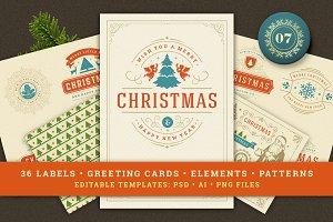 Christmas Retro Design Bundle