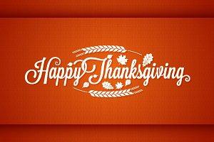 Thanksgiving vintage card lettering