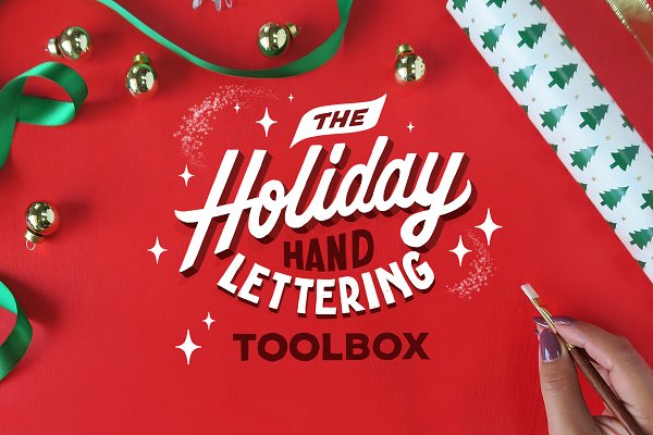 Product Mockups: TYPOxPHOTO - The Holiday Hand Lettering TOOLBOX