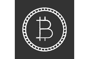 Bitcoin chalk icon