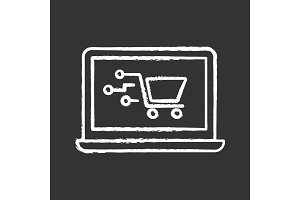 Payment system technology chalk icon