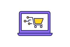Payment system technology color icon