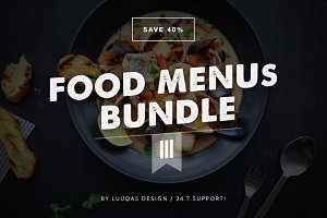Food Menus Bundle 3