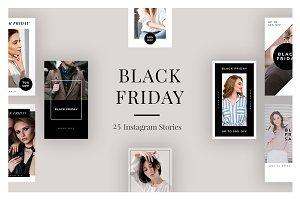 25 Black Friday Instagram Stories V1