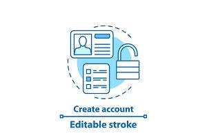 Account creation concept icon