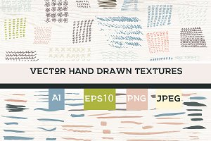 Vector hand drawn textures