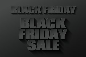 Black friday banner on black