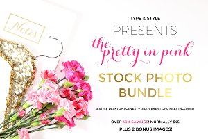 Stock Photo Bundle - Pretty in Pink