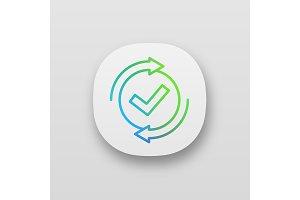 Checking process app icon