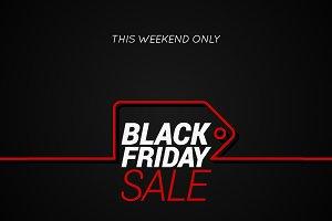 Black Friday sale tag concept line.