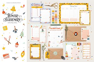 Winter Stationery kit