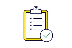 Task planning color icon