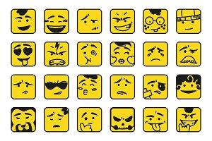 Smiles. Set of emoticons or emoji