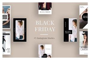 25 Black Friday Instagram Stories V2