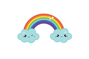 Cute kawaii rainbow