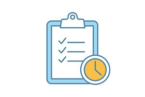 Time management color icon