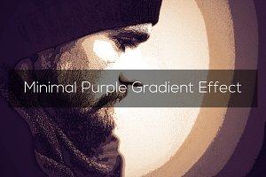 Minimal Purple Gradient Effect