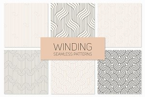 Winding Seamless Patterns. Set 2