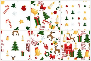 christmas pixel patterns