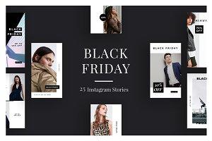 25 Black Friday Instagram Stories V4