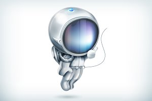 Astronaut vector icon