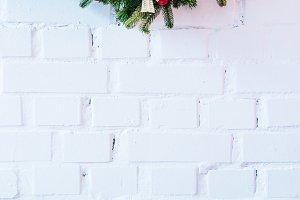 Christmas wreath with christmas ball