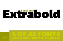 Schuss Sans CG Poster Extrabold