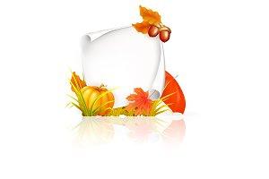 Autumn frame icon